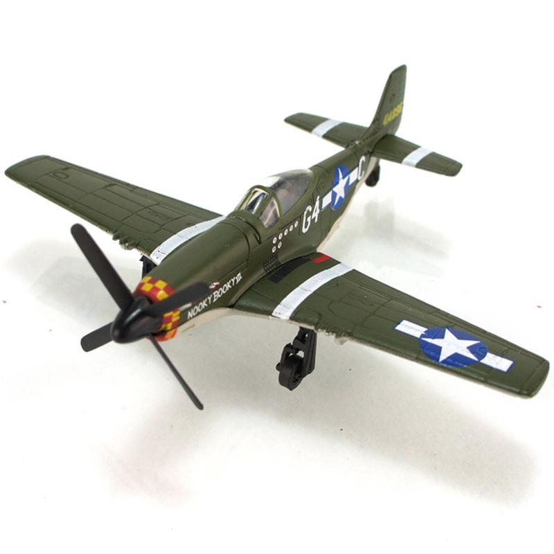 俊基正品飞机二战老式战斗机模型me-109/fw190/mustang/spitfire 野马
