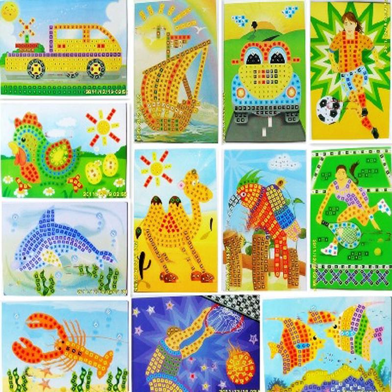 eva马赛克粘贴画立体贴画儿童玩具diy玩具礼物益智diy快乐贴 森林动物