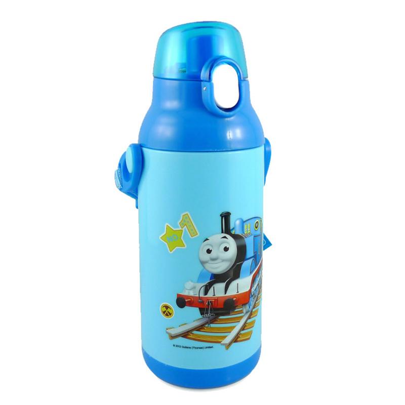 托马斯儿童水壶3d火车头双柄学饮杯吸管水杯/防漏保温