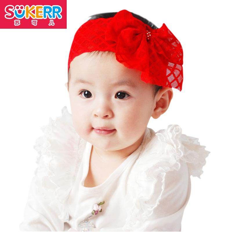 sukerr新款 韩国儿童发带/婴幼儿女宝宝发饰 儿童头饰品 发箍 菱形发