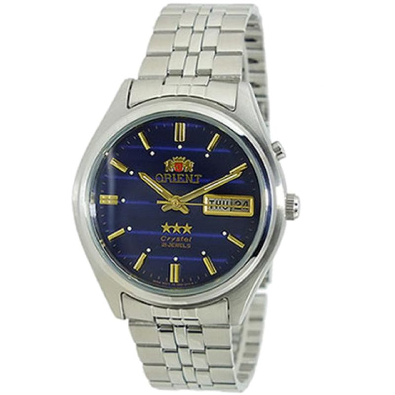 东方双狮(orient)手表全自动机械表蓝宝石玻璃男表日本直送蓝盘银图片