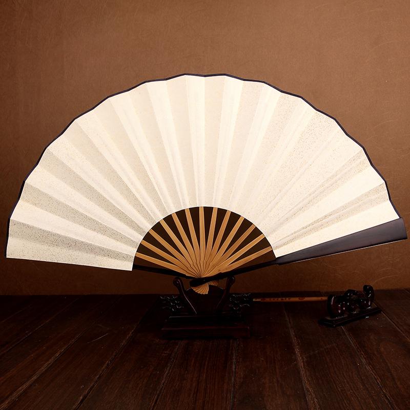 王星记扇一尺乌木空白白纸扇洒金纸扇中国风男式扇子