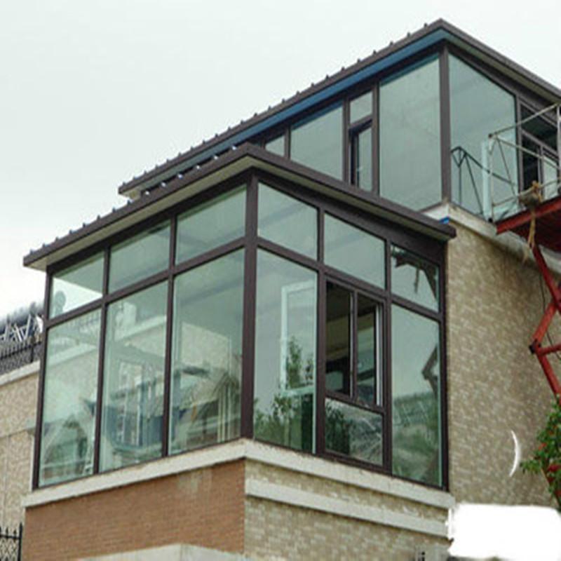 北京钢结构中空玻璃顶阳光房隔热材料 封阳台露台 遮阳活动房屋子