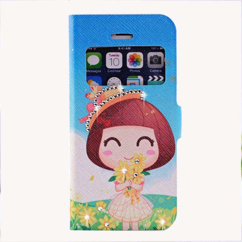 名樱 苹果5代 iphone5s 手机保护壳 皮套支架 卡通贴钻 翻盖 保护套图片