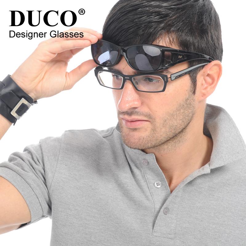 近视太阳镜 偏光套镜 近视镜专用 夜视镜墨镜男女士通用遮阳镜8953 黑