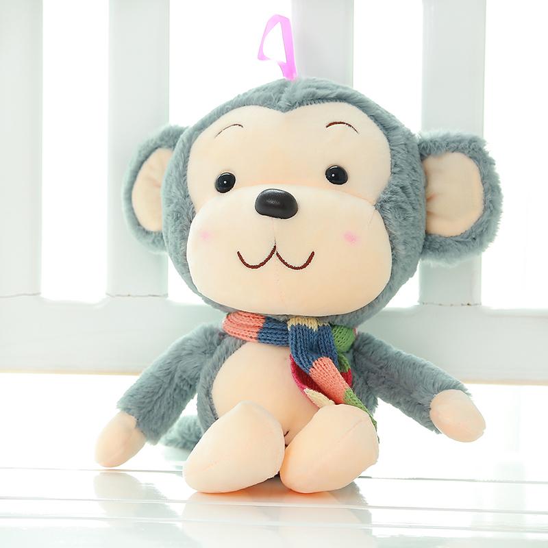 毛绒玩具大号卡通可爱布娃娃围巾猴子大嘴猴公仔玩偶生日礼物女 大耳