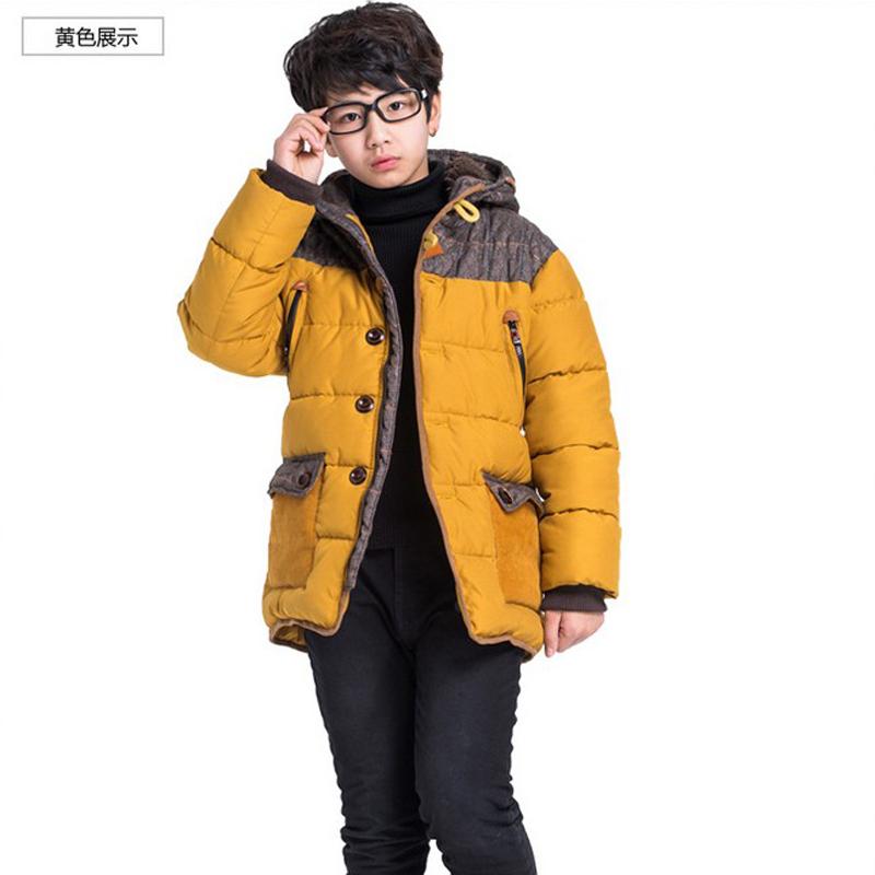 皮咔皮咖男童外套棉袄冬季新款中大童儿童童装棉衣棉服加厚中长款风布纹纸打样图片
