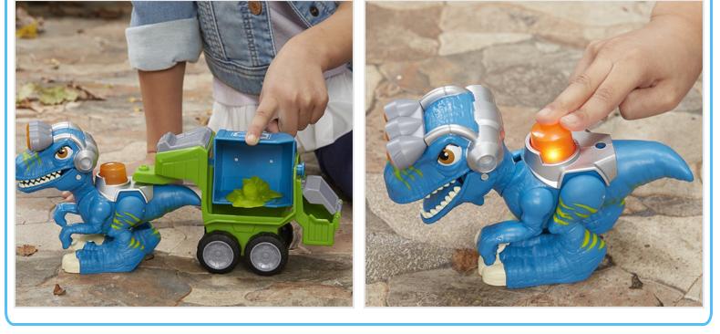 孩之宝 恐龙救援队 迷你喂食 仿真动物模型 侏罗纪世界2 儿童玩具