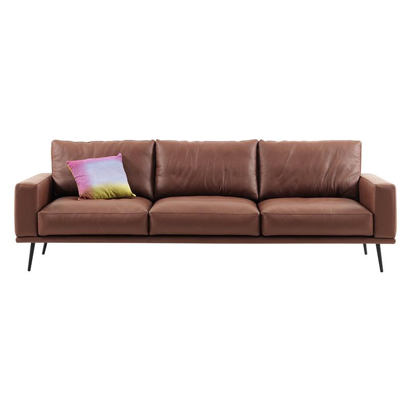 卡西森 意大利简约设计师沙发后现代皮沙发北欧风格接待沙发 西皮图片