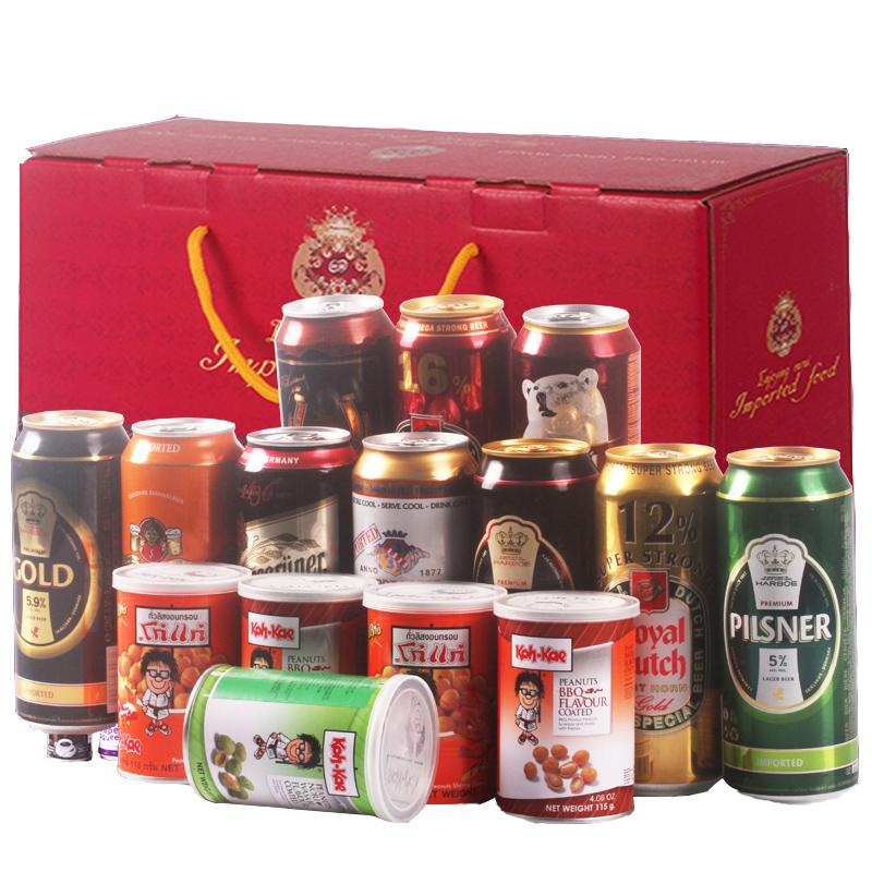 进口啤酒 高度 低度 黑啤 黄啤组合装啤酒大礼盒 聚会