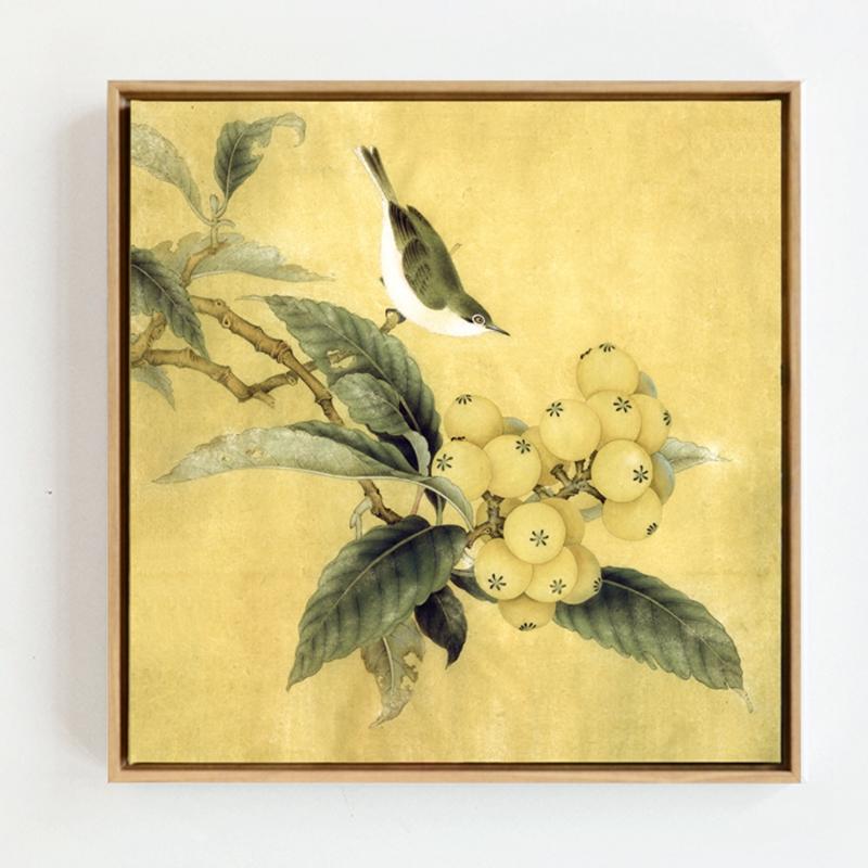 中式花鸟挂画贴图