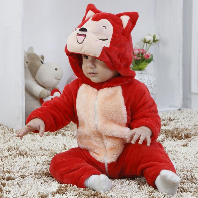 春秋新款宝宝婴儿衣服法兰绒面料动物造型个性可爱 阿狸单层法兰绒