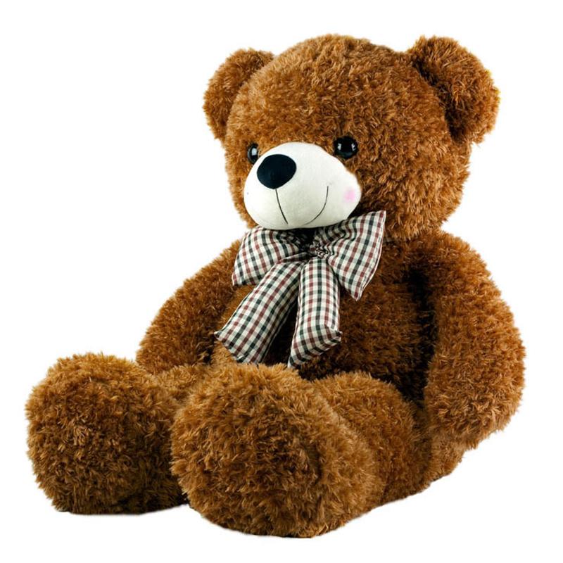 泰迪熊毛绒玩具公仔玩偶抱抱熊大号布娃娃生日礼物送女生可爱 高档浅