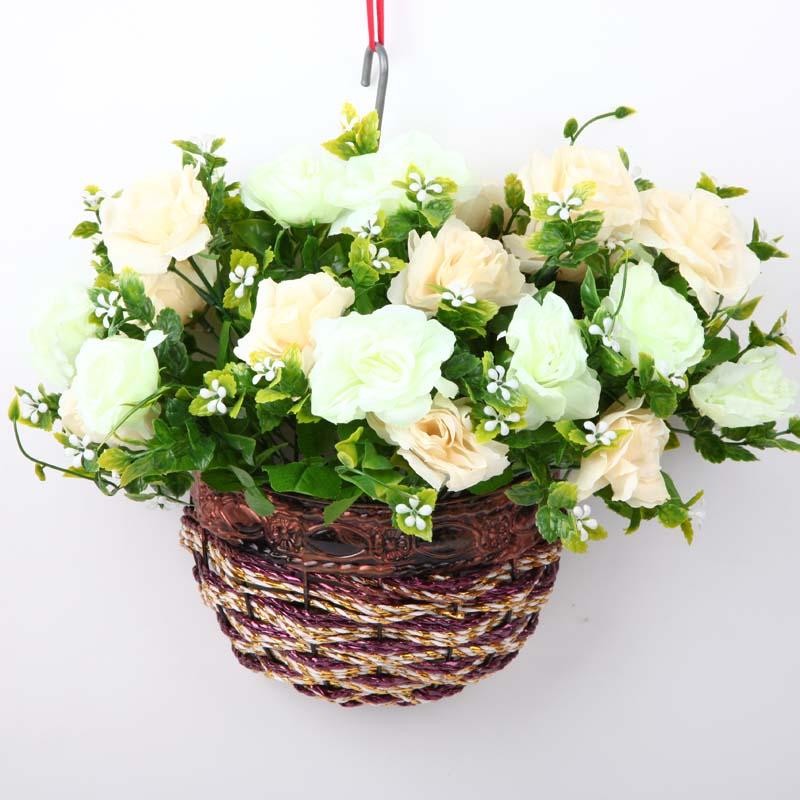 福嘉福 欧式壁挂花瓶花篮 墙面壁饰挂件花艺 田园家居图片