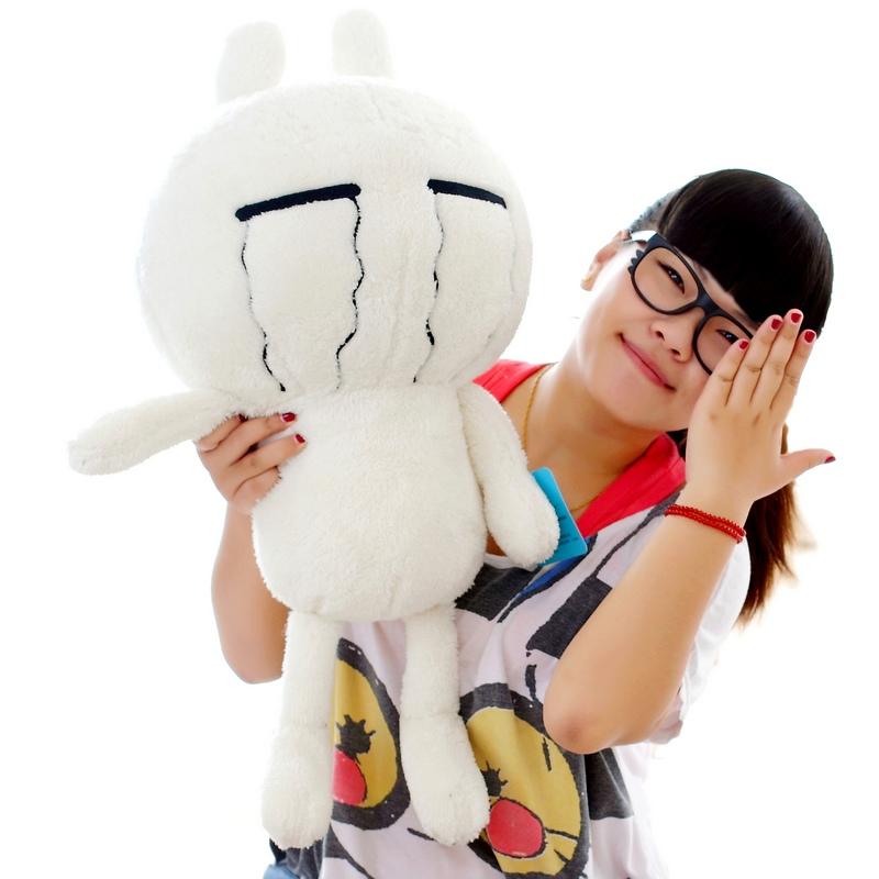 猫可爱兔斯基表情卡通兔子抱枕毛绒玩具公仔大号娃娃