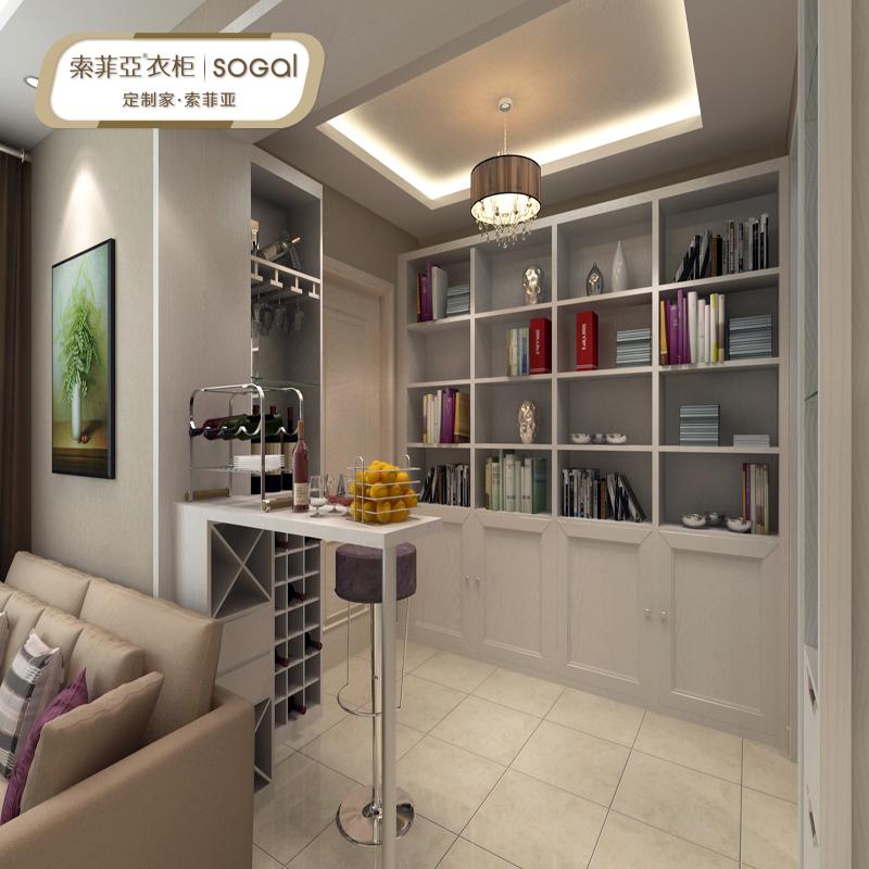 sogal索菲亚客厅家具定制衣柜 入户柜玄关柜餐酒柜整体衣帽间多功能