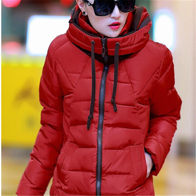 vuracat 2014短款羽绒服女森马女装款学生加厚棉衣女外套小棉袄 红色图片