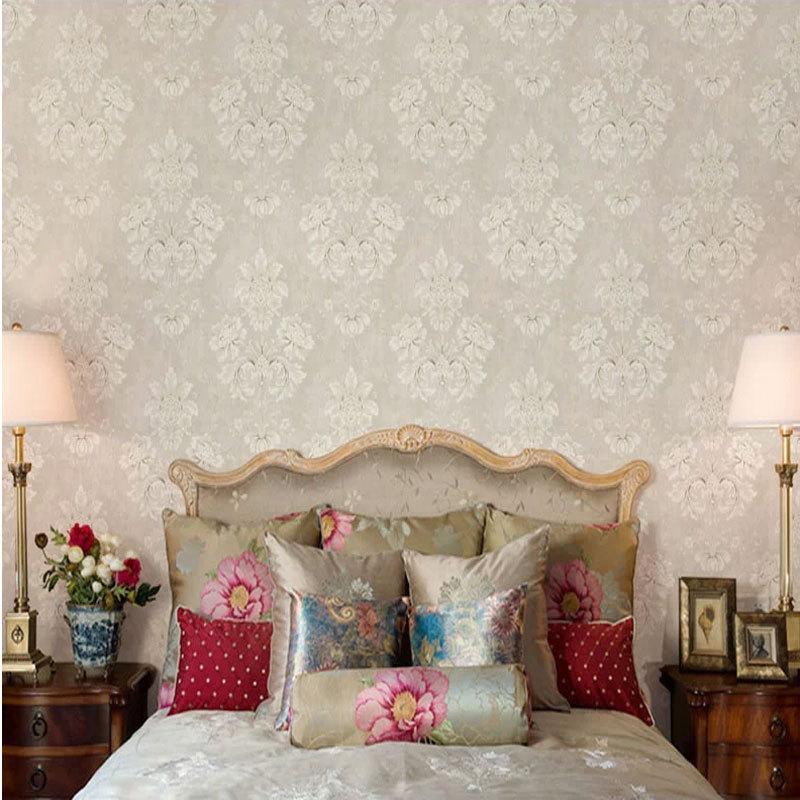 米素壁纸 卧室客厅沙发背景墙壁纸 温馨欧式复古墙纸图片