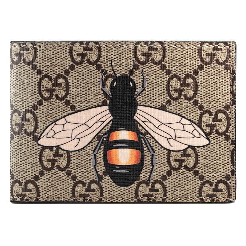 新款时尚模样短款图案双g钱夹印花鲨鱼男士钱包451272标志款大蜜蜂有什么动物呢图片