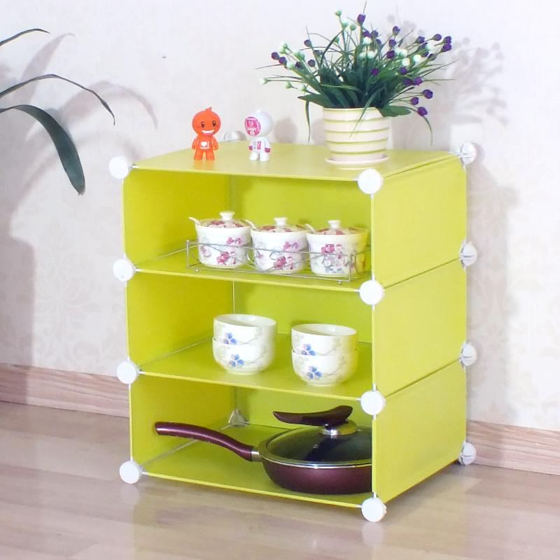 百变易家厨房储物架碗架小置物架层架收纳架整理架可