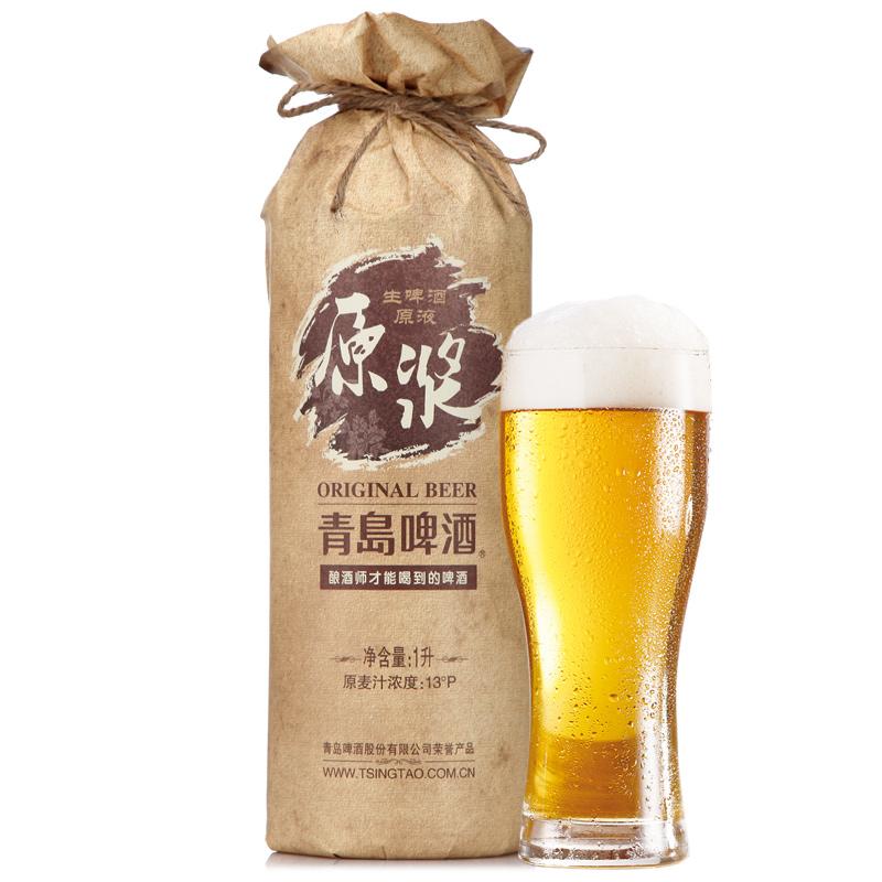 青岛(tsingtao)啤酒 原浆1l罐装