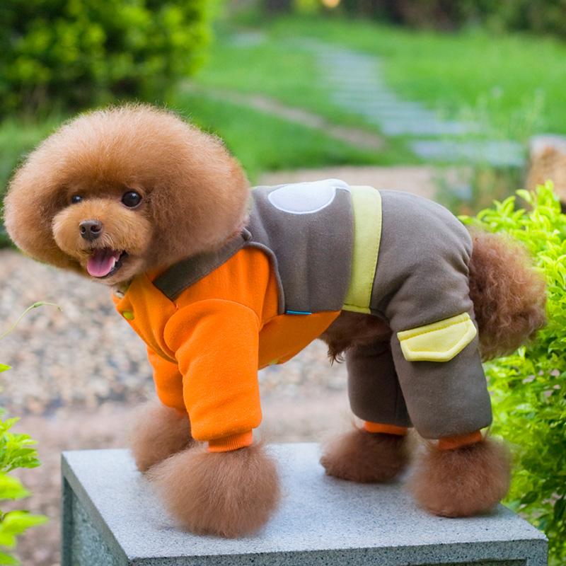 七彩屋 狗狗衣服秋冬四脚衣服宠物小狗泰迪贵宾比熊小型犬猫衣服宠物