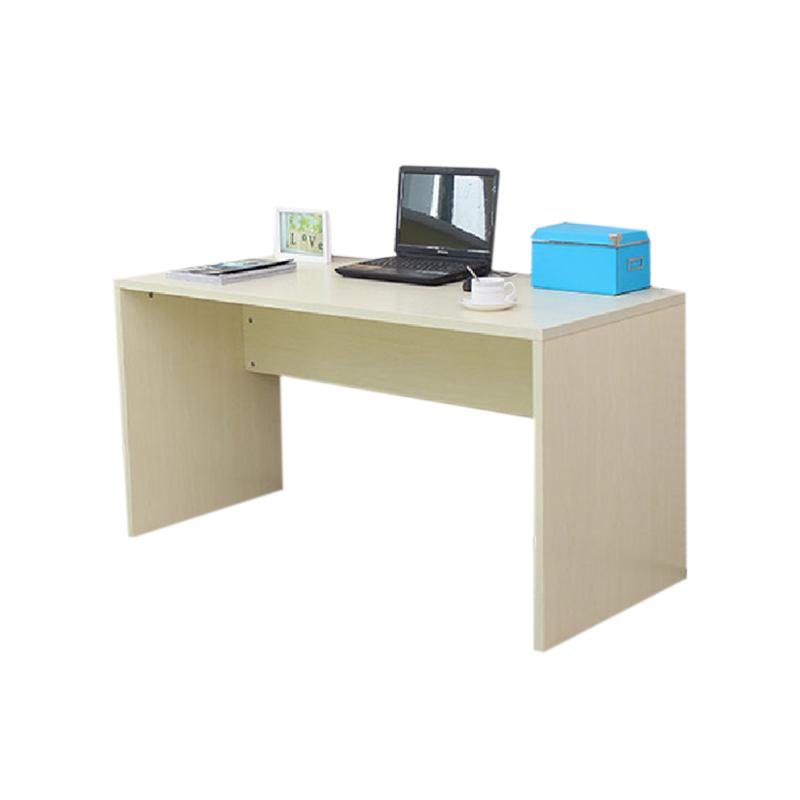 【京好】电脑桌 书桌 餐桌 木制韩式简易板式电脑桌a130 白枫色高0.图片