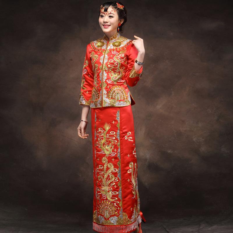 古装服装凤冠霞帔中式婚礼新娘装影楼主题图片