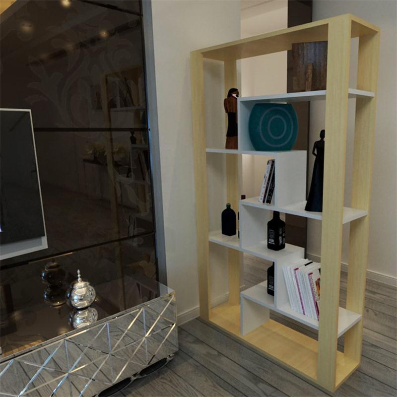 云梦山 简约时尚门厅隔断柜花架格子架 书房可组合书架家具 可定制图片