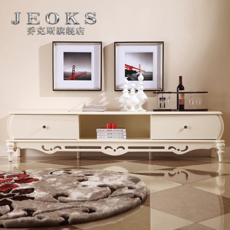 乔克斯品牌联盟欧式电视柜 奢华实木地柜法式矮柜客厅图片