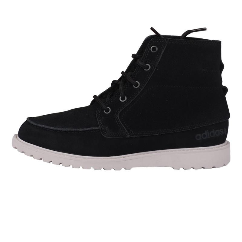 adidas阿迪达斯neo男鞋2014年秋冬新款运动休闲高帮板鞋 f38581 黑色f图片