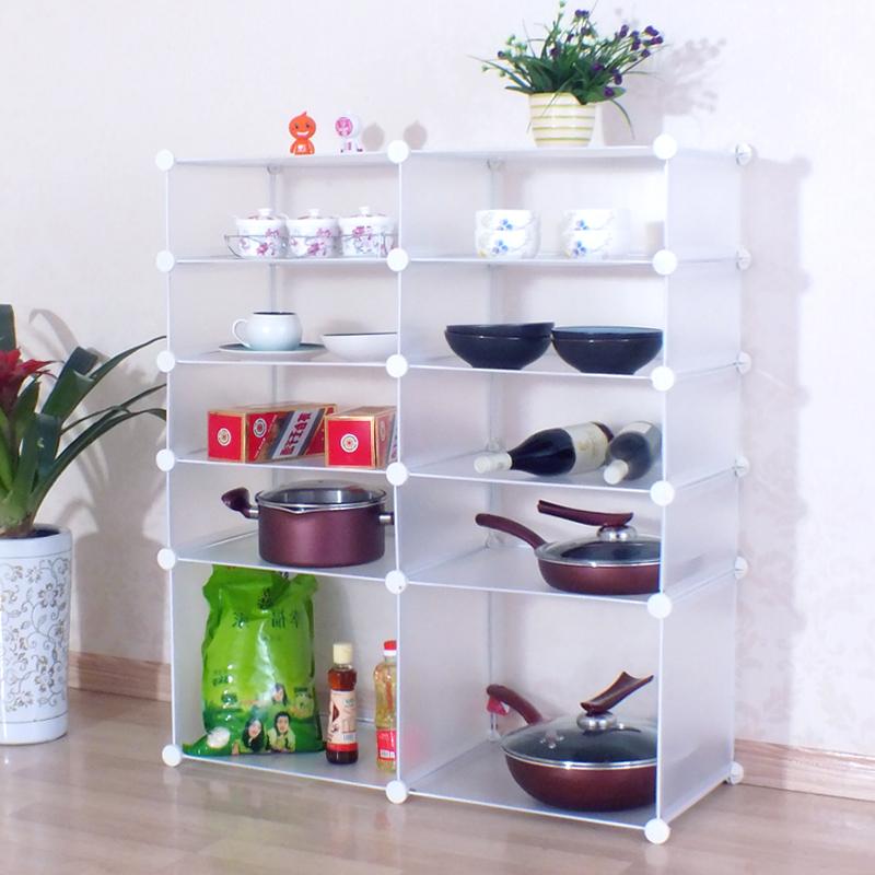 酷森家居用品厨房收纳架宜家收纳柜魔片置物架出租房神器包邮 2*4 2图片