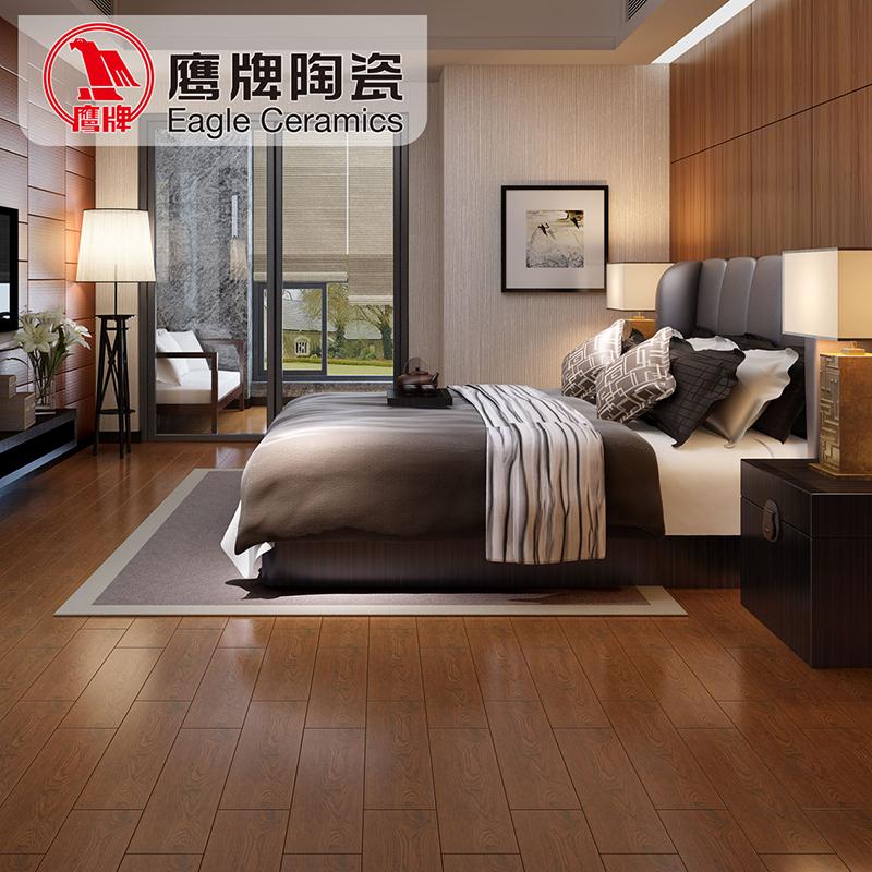 鹰牌陶瓷 仿木地砖 卧室地砖木纹砖瓷砖 仿实木防滑地板砖瓷砖 tm6015