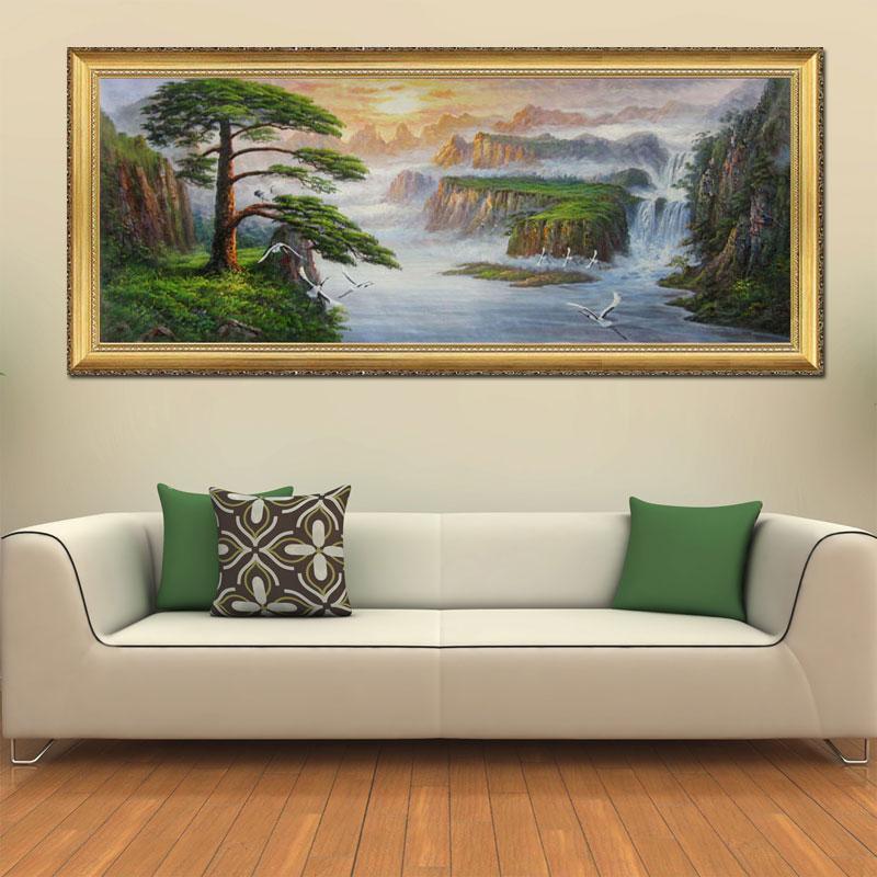 奇野油画客厅装饰画 手绘挂画壁画餐厅酒店墙画 欧式古典山水风景有框