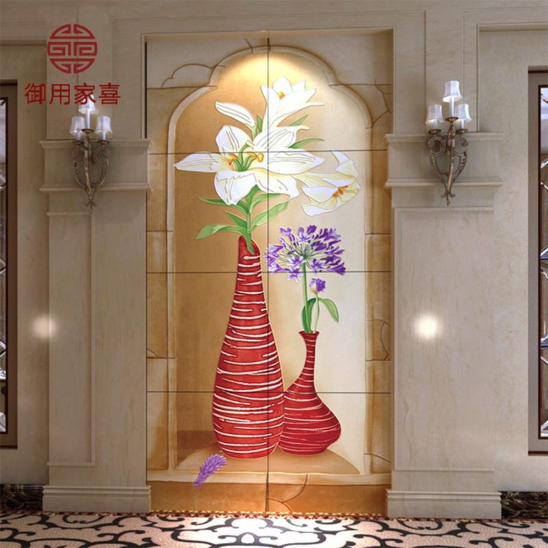 客厅电视背景墙瓷砖欧式 陶瓷雕塑 走廊过道玄关背景墙砖雕刻壁画瓷砖图片