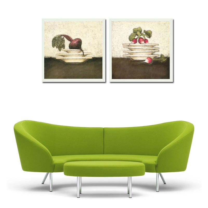 沙发背景墙画 非手绘油画