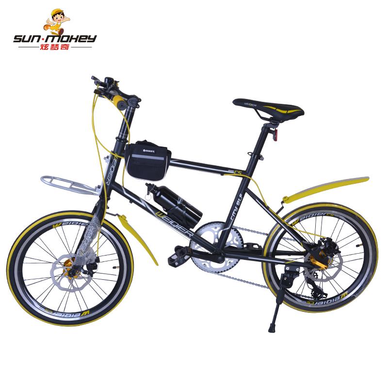 伟琪儿儿童变速自行车禧玛诺变速碟刹山地车至尊碟刹