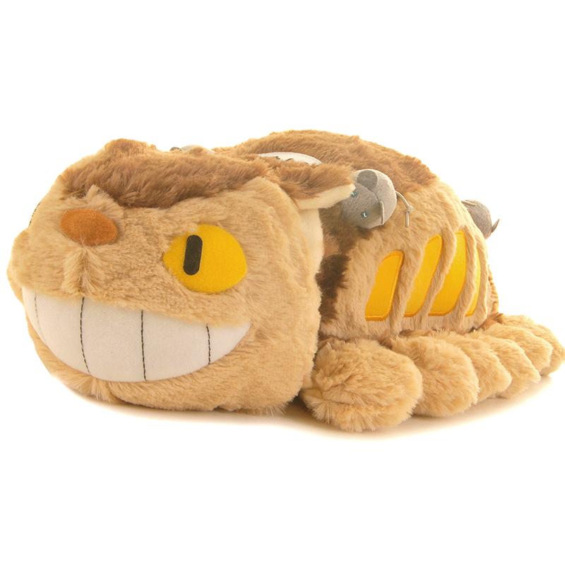 正品totoro龙猫 宫崎骏吉普力 猫巴士抱枕靠垫毛绒玩具公仔 礼物 趴长