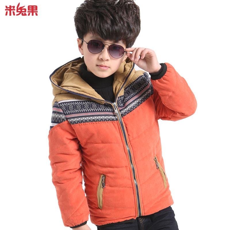 米兔果 品牌童装男冬装 冬季男童外套6026 儿童上衣加绒加厚 大童男装图片