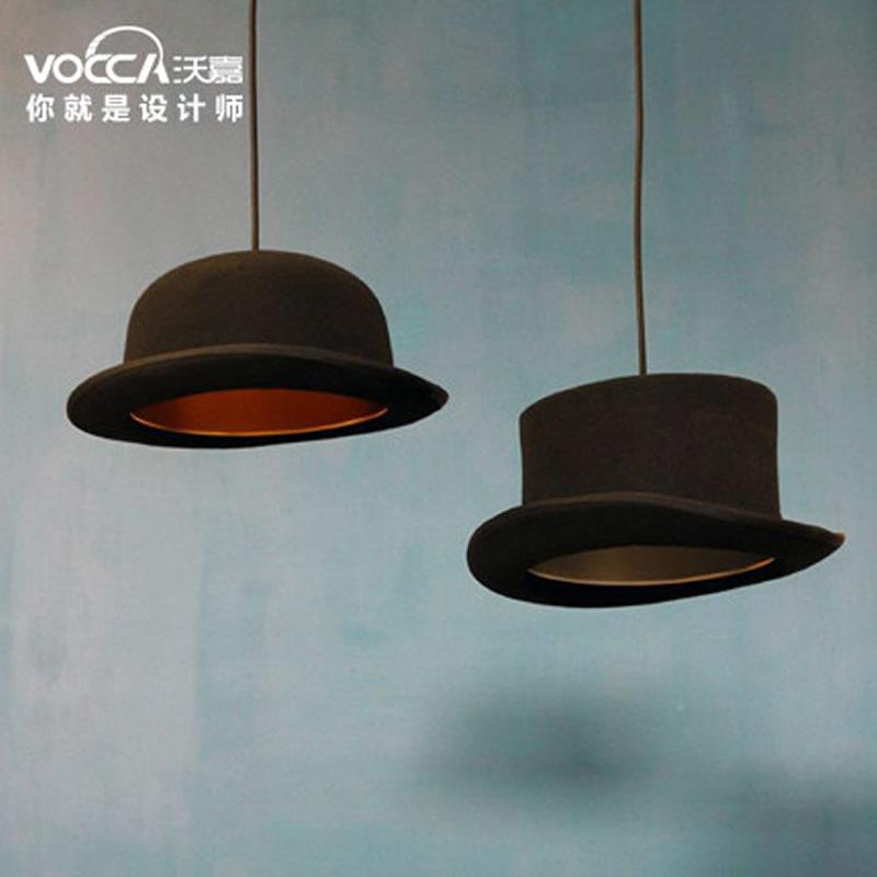 设计师灯 圆平顶餐厅吧台过道灯 创意灯具 伍德豪斯英国礼帽吊灯 圆顶