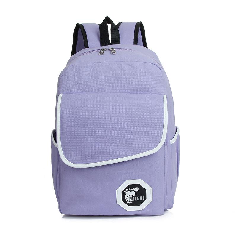布叮堡 2014新款韩版潮流学院风学生帆布双肩背包 时尚休闲旅行背包女图片