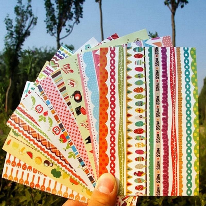 吉米兔韩版diy相册装饰手绘彩虹封口贴贴纸jmbz028 创意文具创意相册