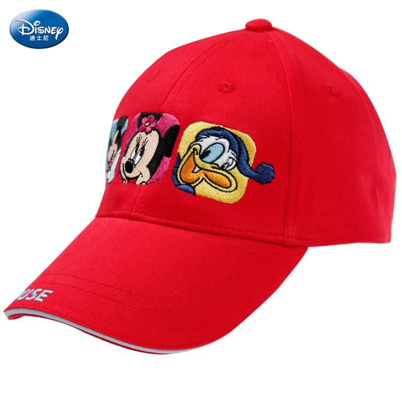 迪士尼(disney)儿童帽子 男春秋 米奇鸭舌帽 长帽檐棒球帽 学生运动