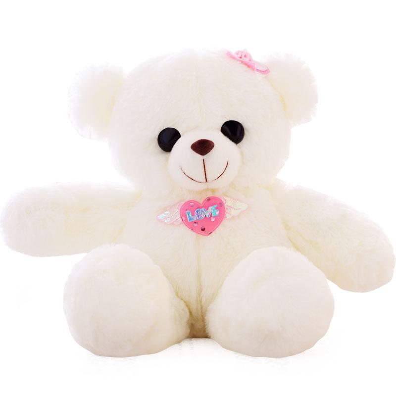 许愿精灵 发光小熊泰迪熊娃娃公仔可爱毛绒玩具女生新年情人节礼物 爱