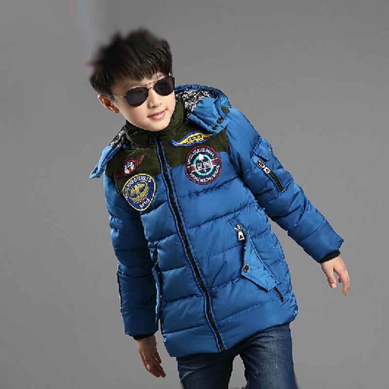 男童棉服加厚大童男装儿童棉衣外套5-6-12岁棉袄中长冬装2015新款图片