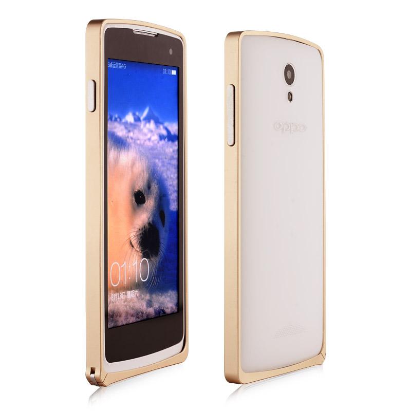 海戈 迷你扣金属边框 适用于oppo r2017/r2001手机壳保护套 土豪金