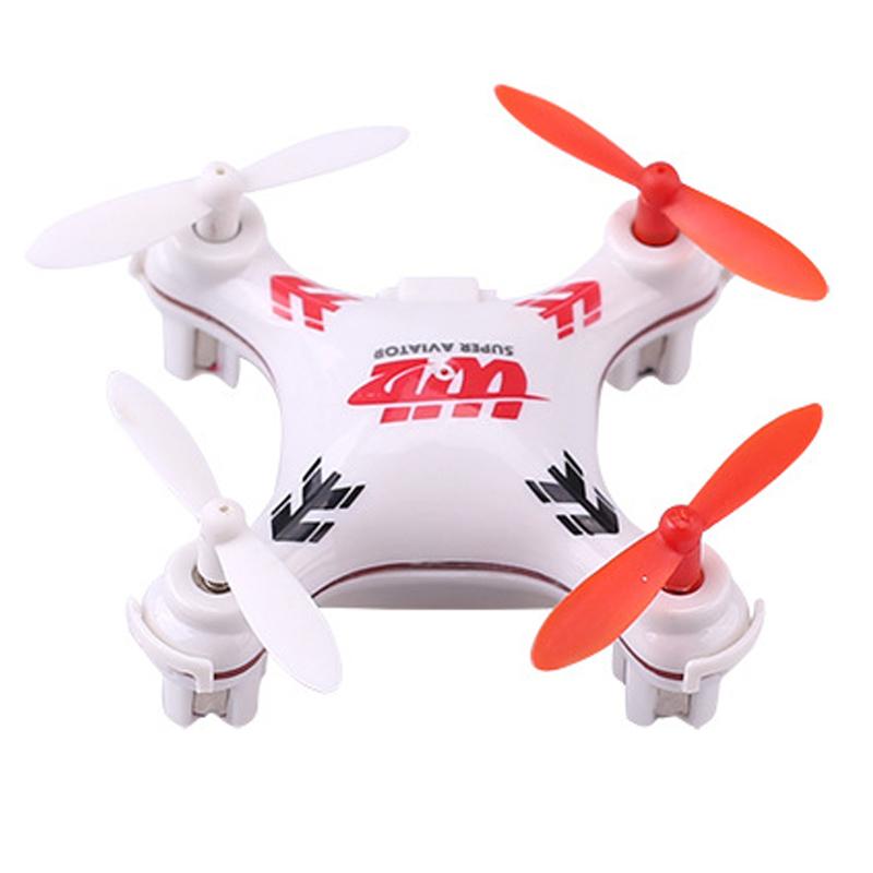 v676迷你2.4g四轴飞行器遥控飞机航空模型玩具无头模式 白色 15.