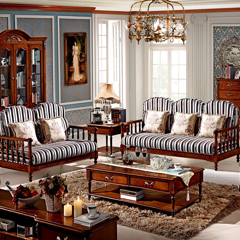 简约美式家具 美式沙发图片