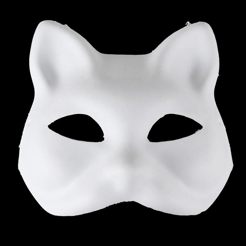 纸浆自画手绘面具