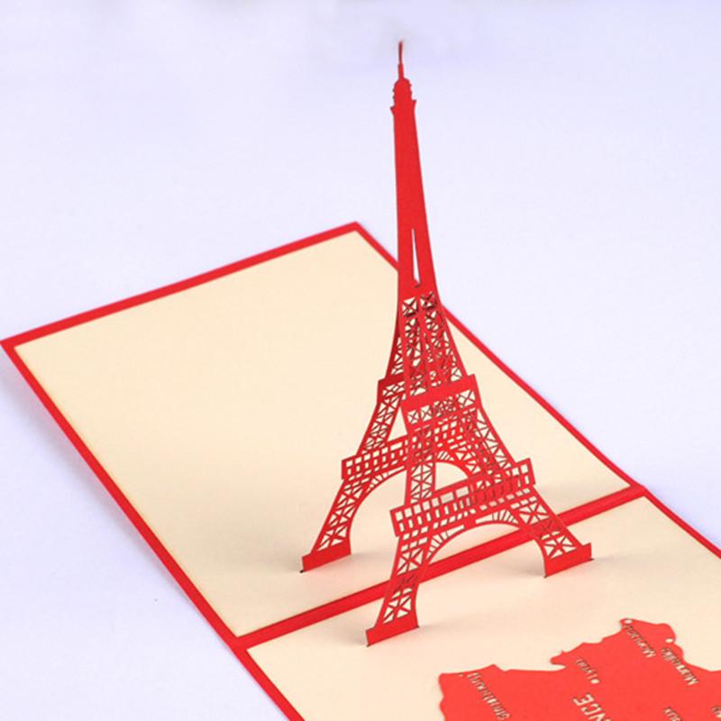 创意3d手工纸雕立体贺卡